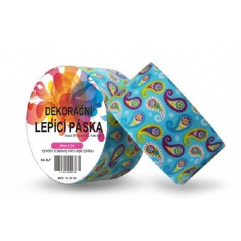 Páska DUCT TAPE 48mmx5m Ornament v modré